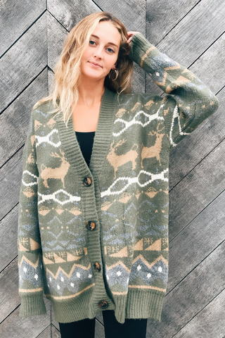 Into The Wild Oversized Cardigan