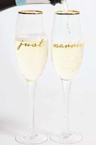 Just Married Champagne Glass Set - House of Lucky