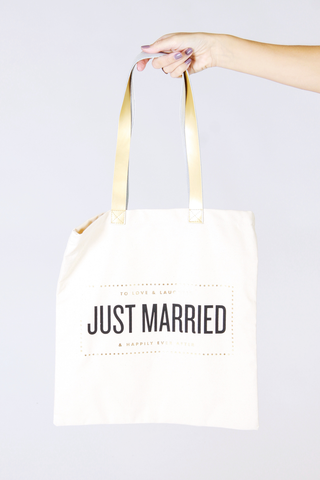 Just Married Tote - House of Lucky