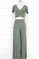 Knit Ribbed Wide Leg Pants