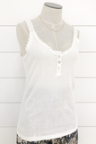 Lace Trim Cami Dress - House of Lucky