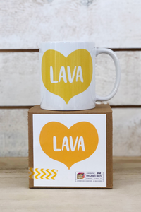 SH Big Heart Lava Mug