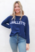 Lavallette Block Letter Crew Neck