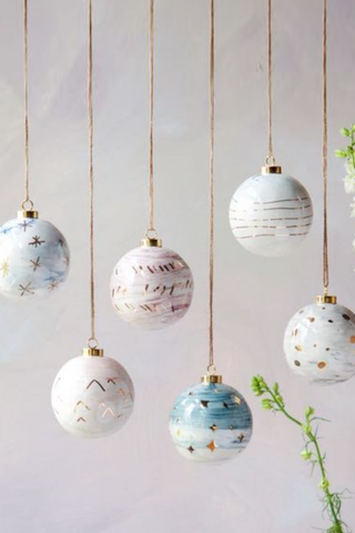 Marbled Ball Ornament - House of Lucky