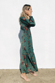 Midnight Blooms Maxi Dress