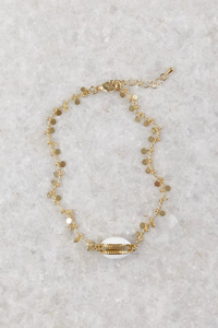 Mini Disk Anklet W/ Shell