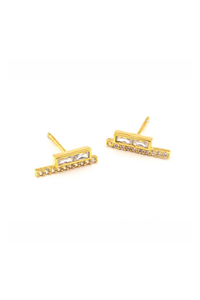 Baguette Stick Post Earring