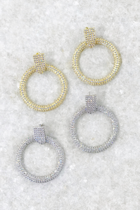 Pave Statement Earrings