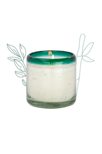 9oz La Playa Handblown Glass Candle