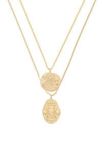 Queen Of Hearts Coin Necklace