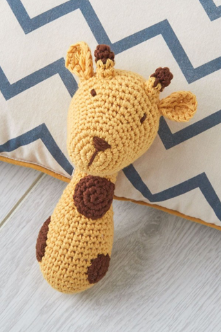 Giraffe Crochet Rattle - House of Lucky