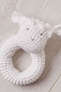 Lamb Crochet Rattle - House of Lucky