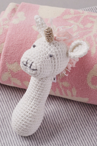 Crochet Unicorn Rattle - House of Lucky