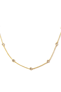 Rian CZ Chain Necklace 16""