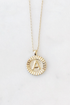 Round Initial Coin Necklace
