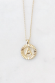 Preorder - Round Initial Coin Necklace