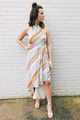 Illusion Striped Dress
