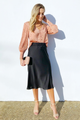 Satin Crepe Midi Skirt