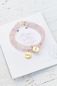 Rose Quartz Bracelet Set-Mom & Me