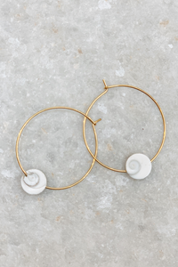 Shiva Shell Hoops