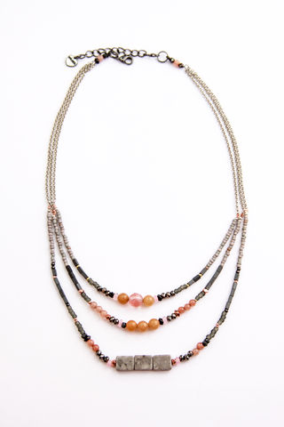 Short Beaded Layer Necklace