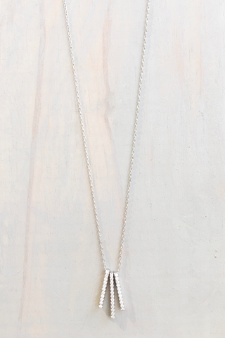 SS 3  Pave Bar Necklace