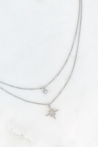 Double Starburst Layered Necklace