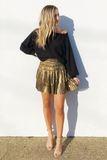 Shimmer Mesh Midi Skirt - House of Lucky