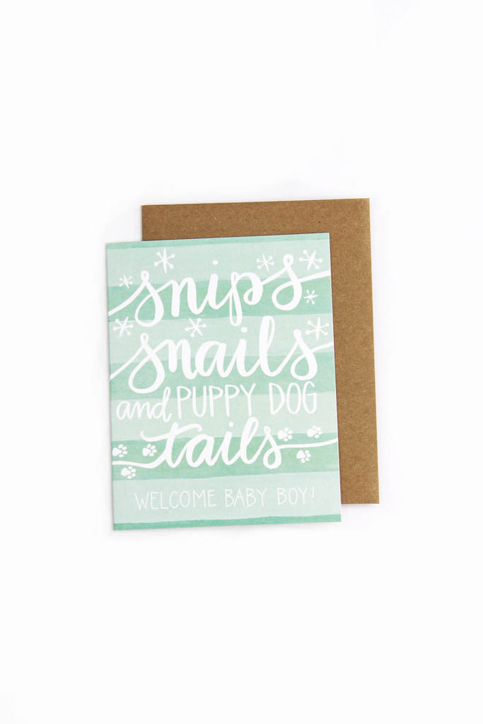 Snips Snails Baby Boy Card - House of Lucky