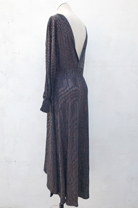 Night Sky Metallic Maxi Dress