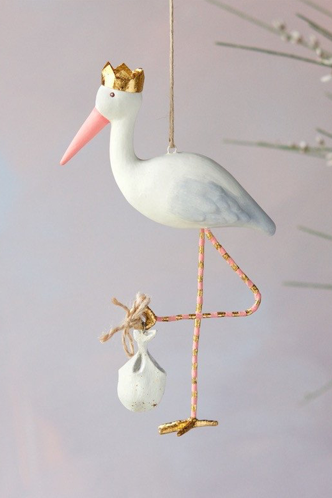 Royal Stork Ornament