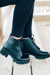 Strength in Numbers Lace Up Booties