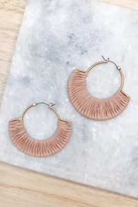Suede Fan Earrings