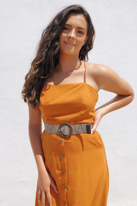 Sun Daze Belted Midi Dress