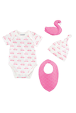 Organic Swan Layette Gift Set 0-6 - House of Lucky