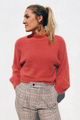 Sweet Bubble Sleeve Sweater