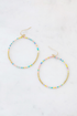 Thin Beaded Drop Hoops