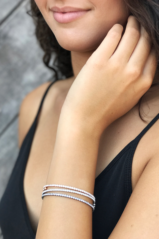 Thin Crystal Cuff Bracelet - House of Lucky