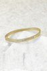 Thin CZ Stone Metal Bangle