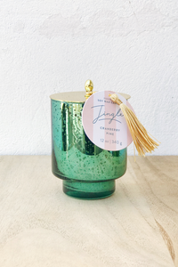 SH 12oz Tinsel Mercury Glass Candle