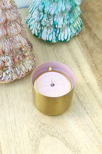 Pink Pine Tiny Tinsel Glass Candle