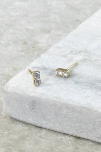 Tiny CZ Bar Studs