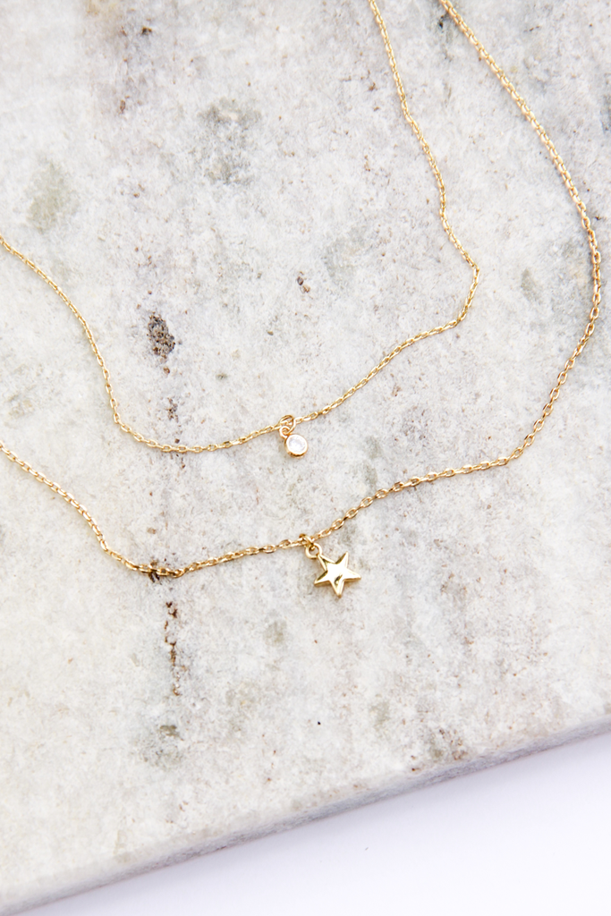 Tiny Star Necklace - House of Lucky