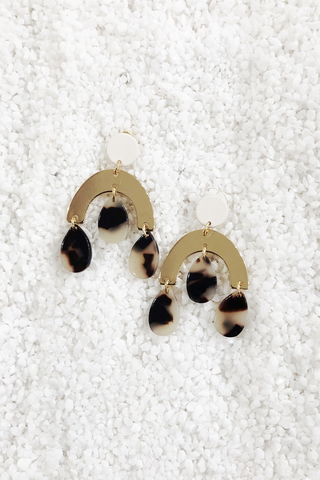 Tortoise Dangle Earring