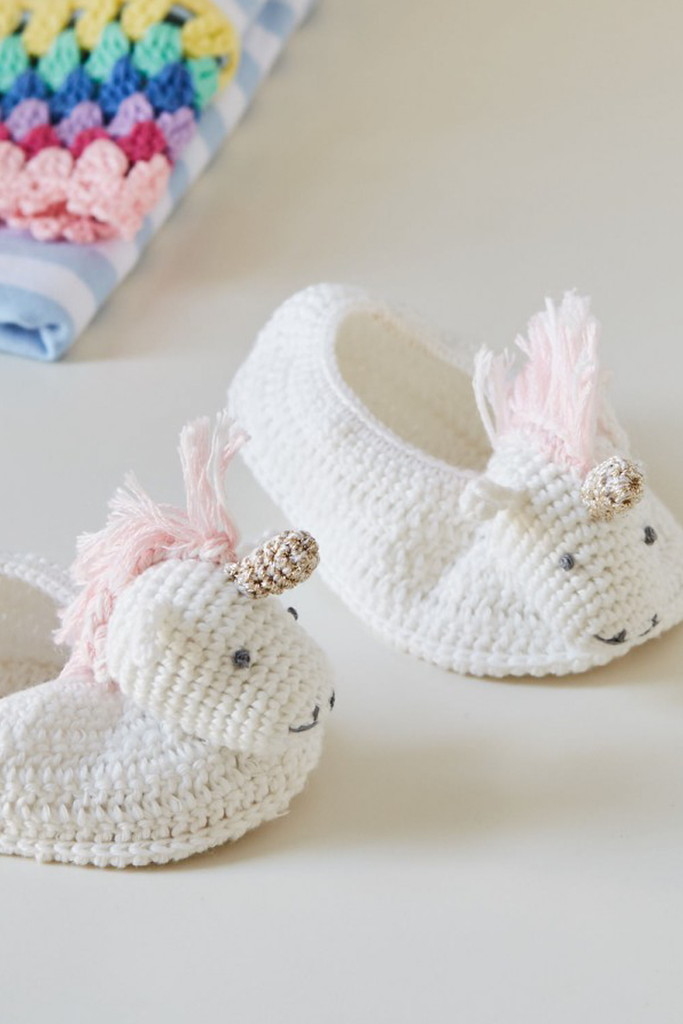 Crochet Unicorn Booties