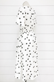 Double Bow Polka Dot Dress