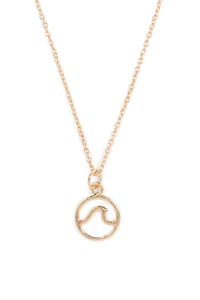 Rose Gold Wave Necklace
