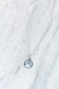 Silver Wave Necklace