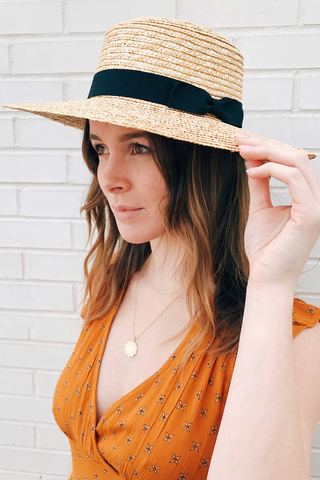 Wheat Straw Sunbrim Hat