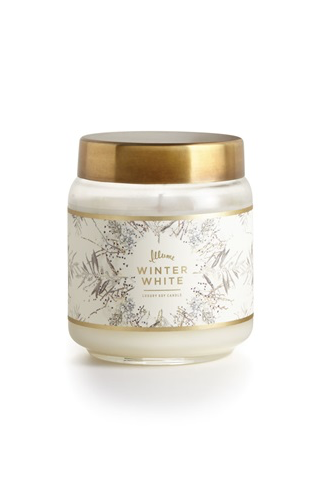 Winter White Lidded Jar Candle